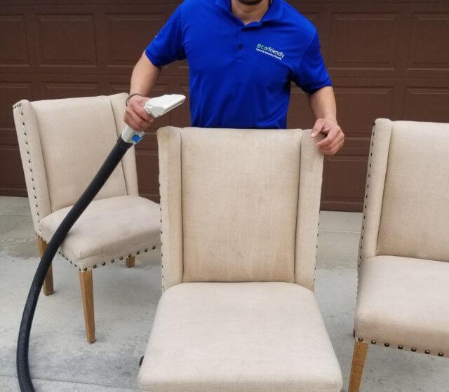 man holding the vacuum