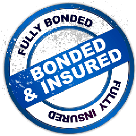 bonded and insured logo