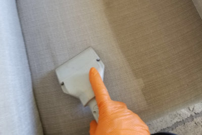 cleaning sofa