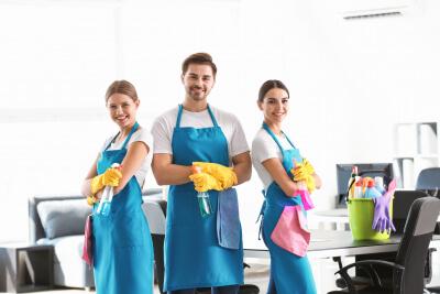 staff smiling